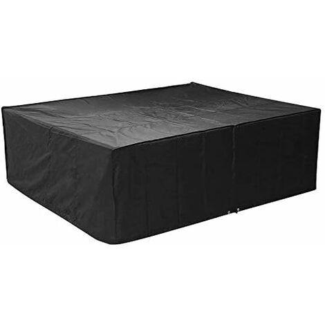FEMOR Housse de protection pour meubles de jardin et meubles rectangulaires, tables de jardin et meubles (250 x 200 x 80 cm)