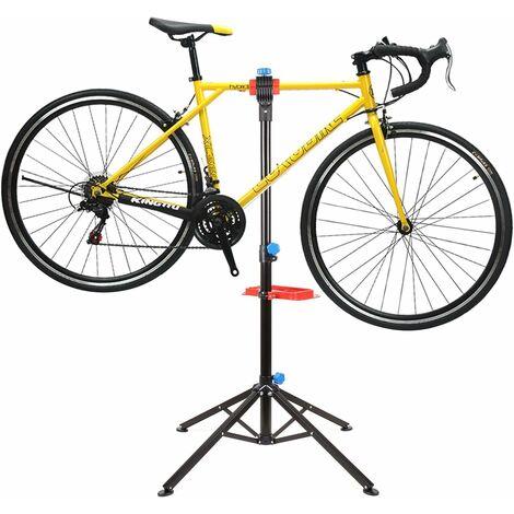 FEMOR Pied d'Atelier pour Vélo Support Stand de Réparation Hauteur Réglable 105-170CM.