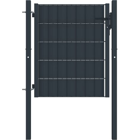 Fence Gate Steel 100x81 cm Anthracite