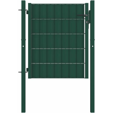 Fence Gate Steel 100x81 cm Green - Green