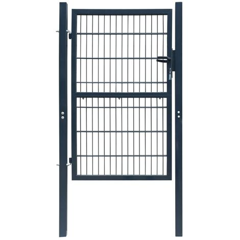 Fence Gate Steel 103x250 cm Anthracite