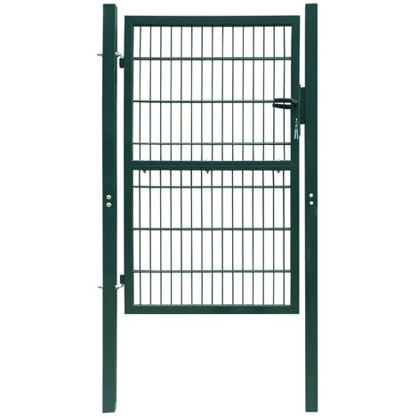 Fence Gate Steel 103x250 cm Green