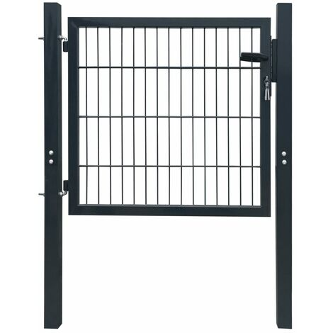 Fence Gate Steel Anthracite 106x150 cm