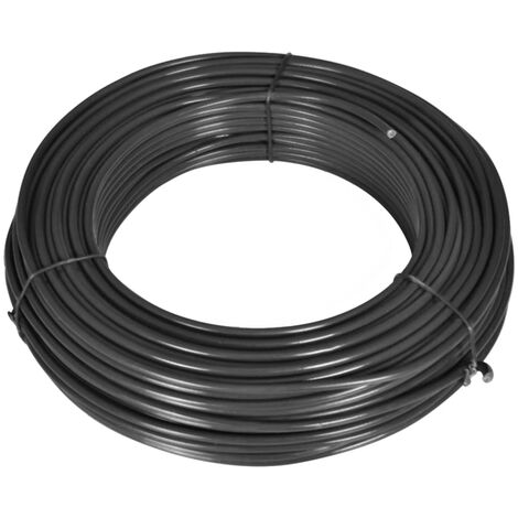 Fence Line Wire 55 m 2.1/3.1 mm Steel Grey