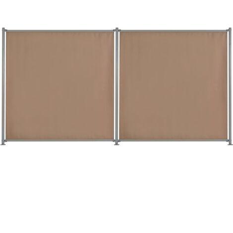 Fence Panel 2 pcs Fabric 360x180 cm Taupe