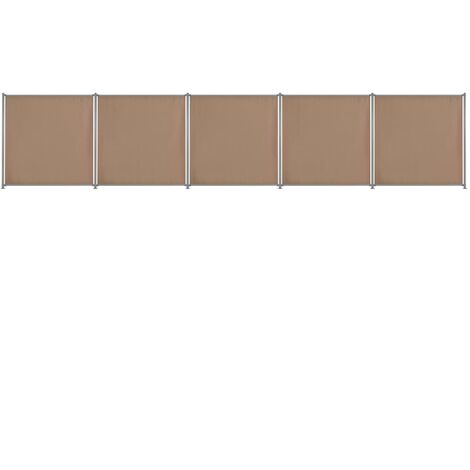 Fence Panel 5 pcs Fabric 900x180 cm Taupe