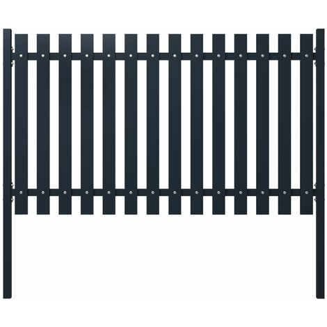 Fence Panel Anthracite 174.5x75 cm Powder-coated Steel