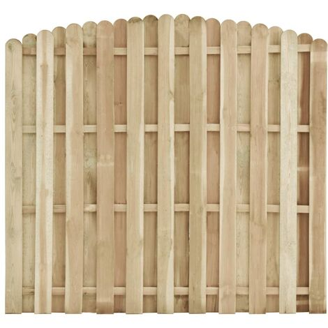 Fence Panel Impregnated Pinewood 180x(155-170) cm - Brown