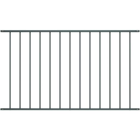 Fence Panel Powder-coated Steel 1.7x1.25 m Anthracite