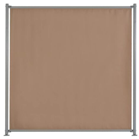 Fence Panel with 2 Posts Fabric 180x180 cm Taupe