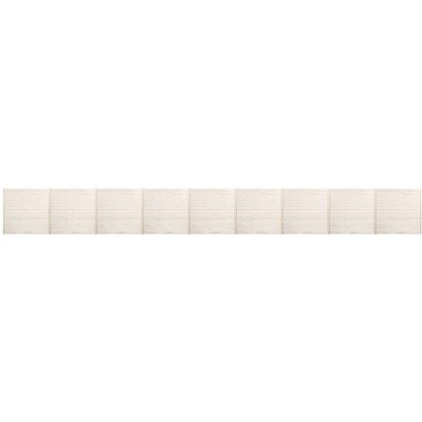 Fence Panels 9 pcs 15.3x1.7 m