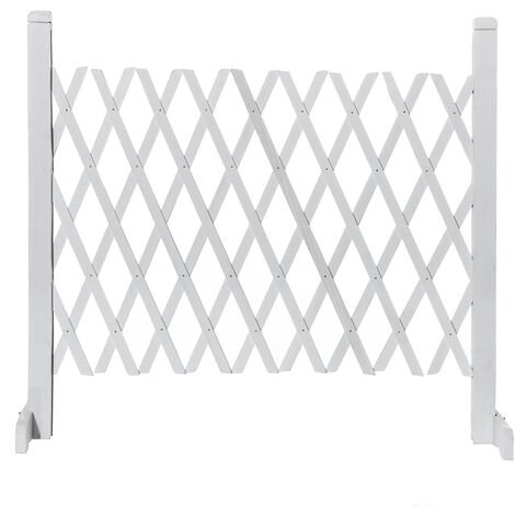 Fence panels Wooden fence gate gate White 70cm