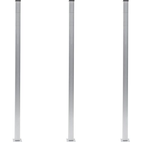 Fence Posts 3 pcs Aluminium 185 cm