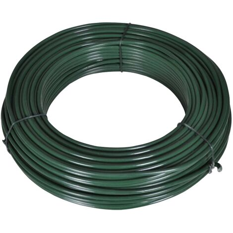 Fence Span Wire 55 m 2.1/3.1 mm Steel Green