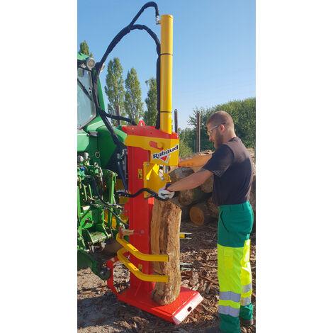 Fendeuse de bûches attelage 3 points tracteur N°1 et 2 - Entrainement pompe tracteur