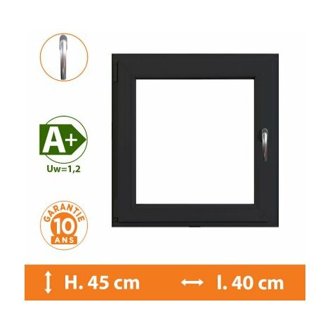 Fenêtre 1 Vantail Gris - Tirant Droit - H.45 x l.40 cm - Gris