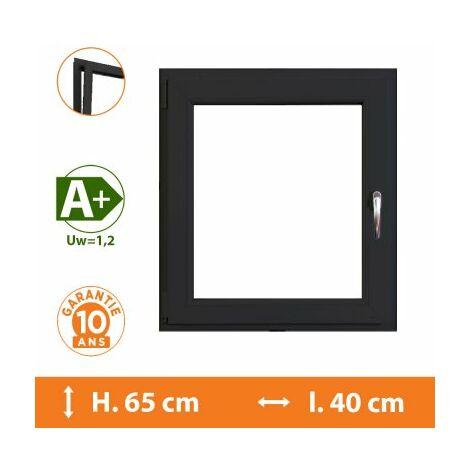 Fenêtre 1 Vantail Gris - Tirant Droit - H.65 x l.40 cm - Gris