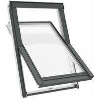 Fenêtre de toit M4A 78 x 98 cm Solstro APX B700, PVC Blanc