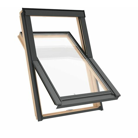 Fenêtre de toit M6A 78 x 118 cm Solstro AAX B500, Finition Naturelle en Pin