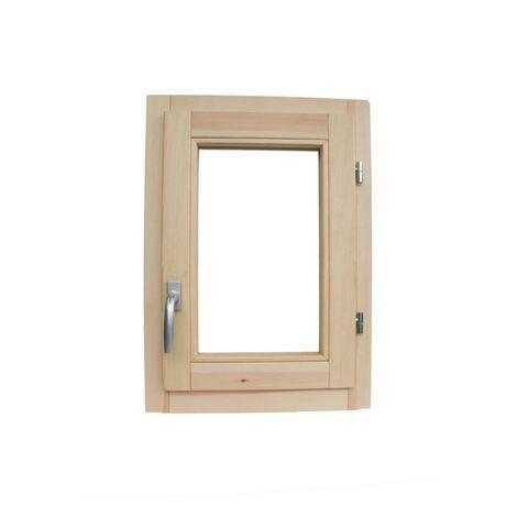 Fenêtre en bois brut de pin 50 x 70 cm ouverture à battant