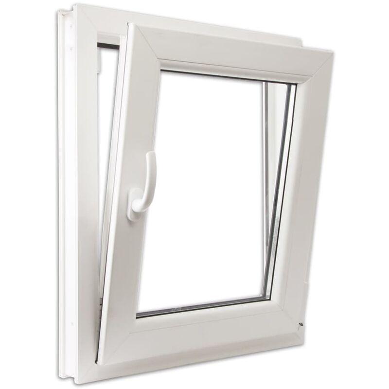 Fenêtre Oscillo Battant En Pvc Double Vitrage Poignée Gauche