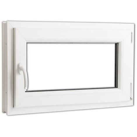 Fenêtre Oscillo Battant En Pvc Poignée Sur La Gauche 800 X 500 Mm
