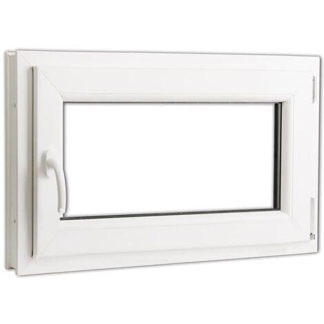 Fenêtre oscillo-battant en PVC Double vitrage Poignée gauche ...