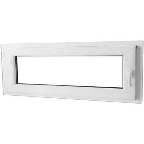 Fenêtre Oscillo Battante Double Vitrage Poignée à Droite 1000 X 400 Mm