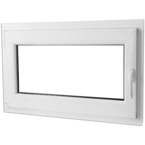 Fenêtre Oscillo Battante En Pvc Avec Poignée à Droite 1 100 X 700 Mm