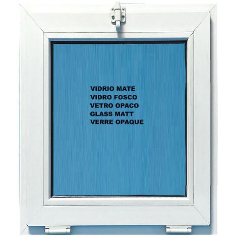 FENÊTRE PVC 500X700 ABATTANT COULEUR BLANC VERRE OPAQUE ( TRASLUCIDE)