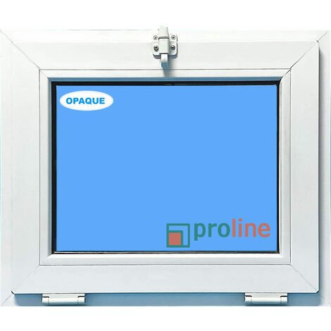 FENÊTRE PVC 600X500 ABATTANT COULEUR BLANC VERRE OPAQUE ( TRASLUCIDE)