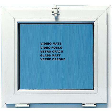 FENÊTRE PVC 600X600 ABATTANT COULEUR BLANC VERRE OPAQUE ( TRASLUCIDE)