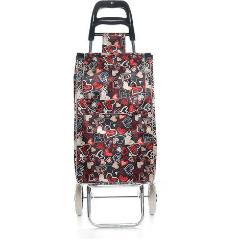 Fenghuo Wheel Shopping Cart Decor Cloth Bag Custom Shopping Cart Trolley 1x Heart Shape