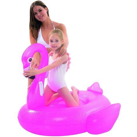 Fenicottero Cavalcabile Gioco Gonfiabile Bambini 110x102cm Mare Piscina Spiaggia