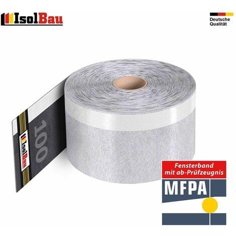 Dampfsperrfolie Dichtband Aluminium PP-Klebeband 75mm Breite//100Meter Aluband