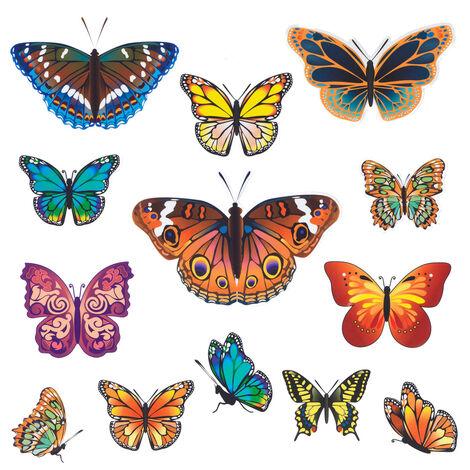 Fensterbild Schmetterlinge, 13-teilig WENKO