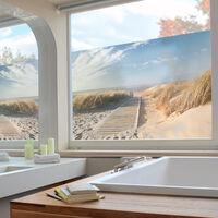 Fensterfolie - Sichtschutz Fenster Ostsee Strand - Fensterbilder Größe HxB: 108cm x 162cm