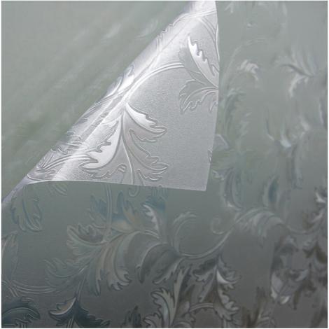 Fensterfolie Sichtschutzfolie Milchglasfolie Motiv Leaf statisch verschiedene Größen