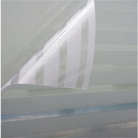 Fensterfolie Sichtschutzfolie Milchglasfolie Motiv Strip statisch verschiedene Größen