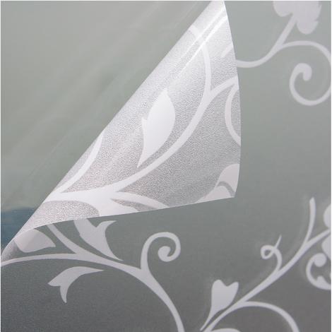 Fensterfolie Sichtschutzfolie Milchglasfolie Motiv Tendril weiss statisch verschiedene Größen