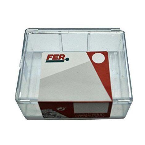 fer 43630Caisse professionnelle plastique Agrafe de polyéthylène, blanc, 5.4x 3.3mm