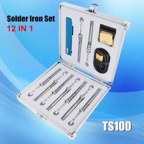 Fer à souder électrique 65W Mini TS100, température réglable, puce STM32 programmable, affichage à l'écran OLED numérique, chauffage rapide avec panne à souder LAVENTE