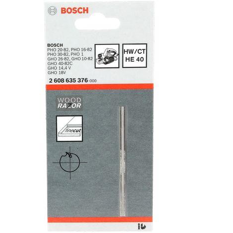 Fer carbure reversible droit (1) 82mm pour Rabot Bosch