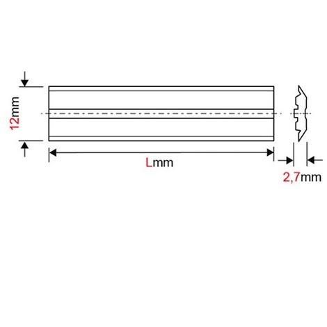 Fer de dégauchisseuse/raboteuse reversible Centrofix carbure 260 x 12 x 2,7 mm (le fer) - MFLS - FECE2601227HM - -