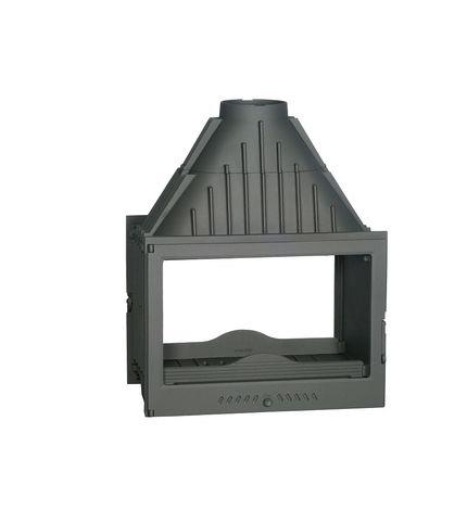 Insert foyer de cheminée en fonte double face 17.5 Kw