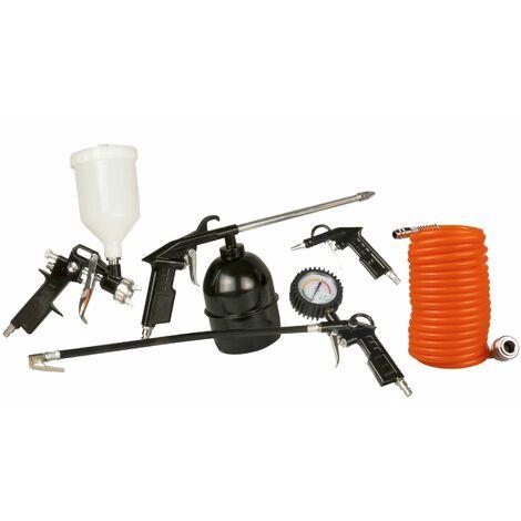 FERM ATM1036 Juego de 5 herramientas de aire comprimido