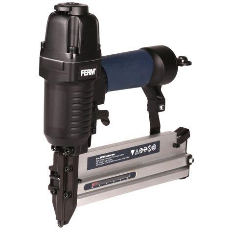 FERM ATM1051 Pneumatische Tacker – DIN/Orion - Weichen Griff – Inkl. 300 Nägeln und 100 Heftklammern