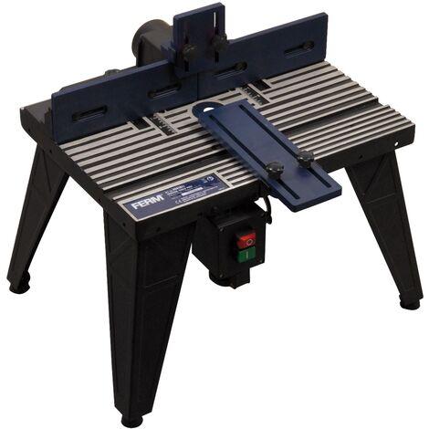 FERM Banco per Fresatrice. Adatto a fresatrici con piastra base fino a 162mm. Dimensioni banco 455 x 330mm. Altezza banco 300mm