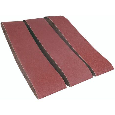 FERM BGA1058 Bandes abrasives P60 P100 P150 3 pcs. 915x100mm pour BGM1003