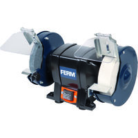 FERM BGM1020 Bench Grinder - 250W - 150mm - Mountable to your workbench - With 2 Grinding stones (P36 and P80), 2 Spark Arresters and 2 Work Rests